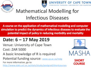 Mathematical Modelling for Infectious Diseases from 6 to 17 May 2019 in the Stats Department at UCT
