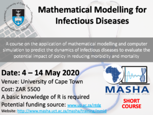 Short course on the Mathematical Modelling for Infectious Diseases at UCT